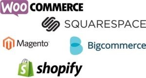 Image of eCommerce platforms and their logos.